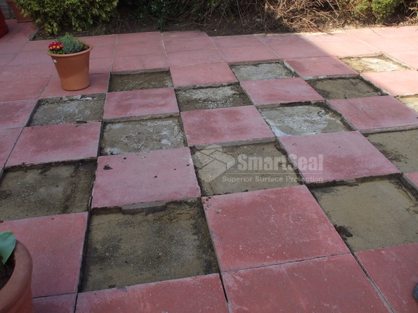 Replacing  flagstones- adding a little colour