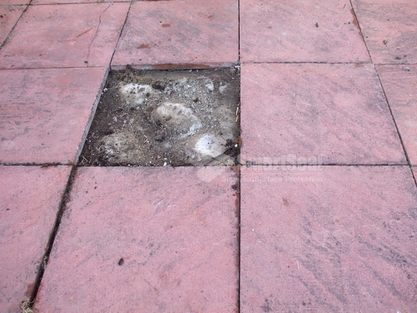 Replacing broken flagstones